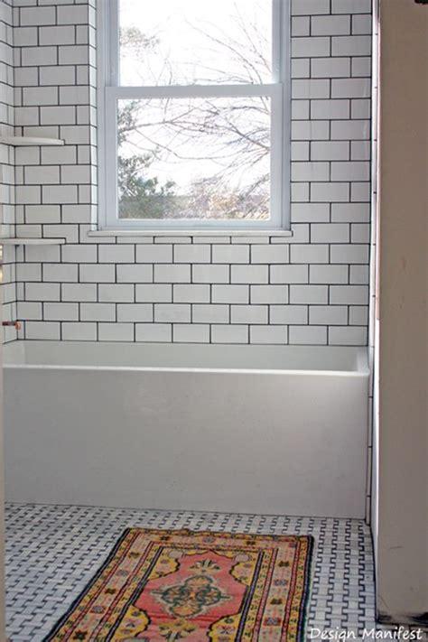 modern subway tile home design white subway tile dark grout window in tub modern tub