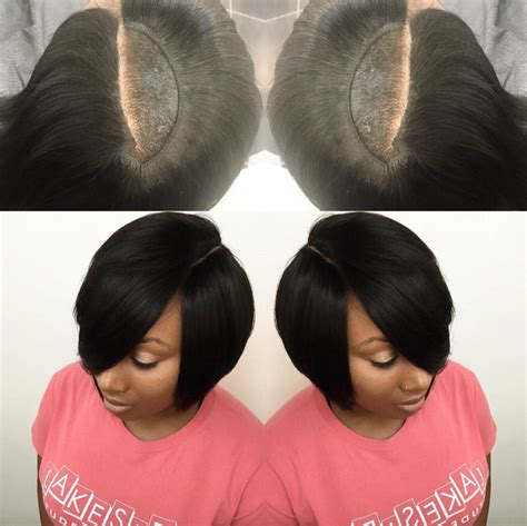 invisible part quick weave short styles nice invisible part quick weave via hairbylatise black