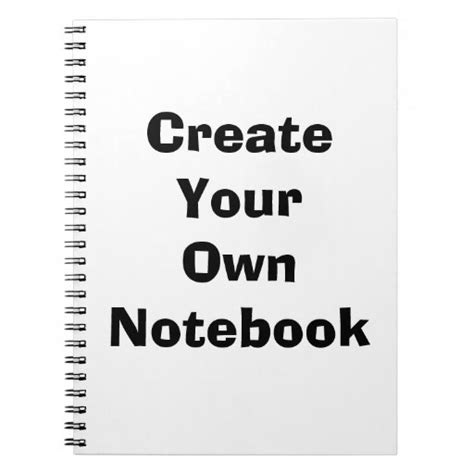 create your own building create your own notebook zazzle