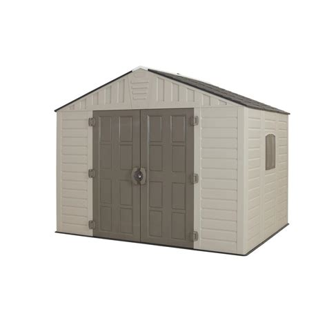 us leisure home design products us leisure 10 ft x 8 ft keter stronghold resin storage shed browns tans shop your way