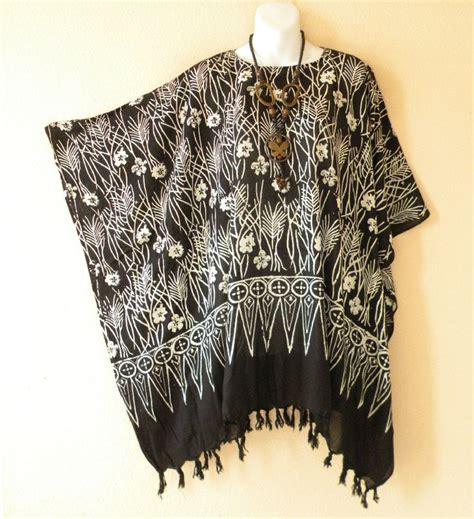 Kaftan Zahwa Fit Xlwhite black white plus size floral batwing batik caftan kaftan