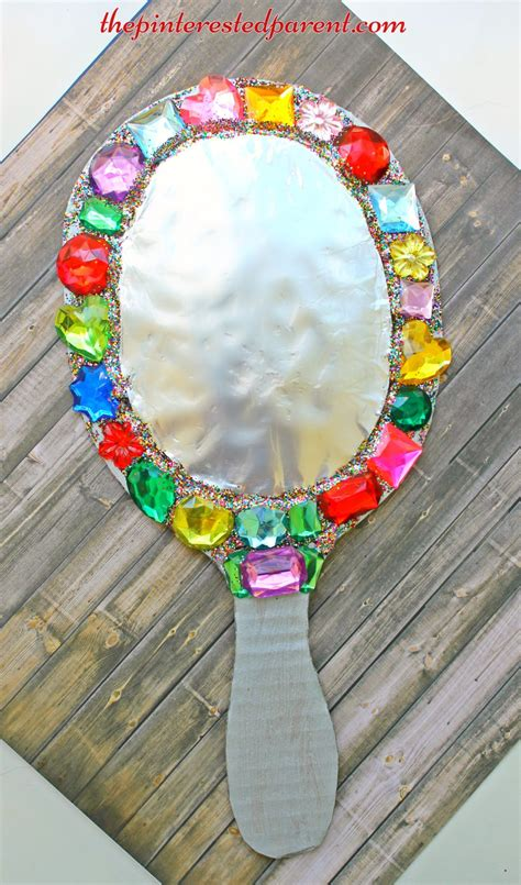 mirror craft for jeweled cardboard mirror the pinterested parent