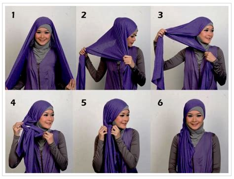Gaya Kerudung Segi Empat Simple tutorial cara pakai kerudung segi tiga gaya simple
