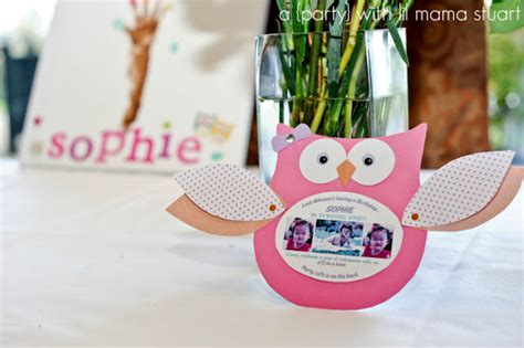 a day with lil stuart colorful owl 1st birthday