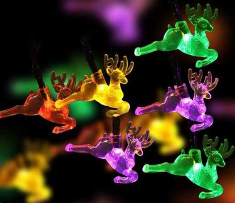 reindeer solar christmas lights christmas