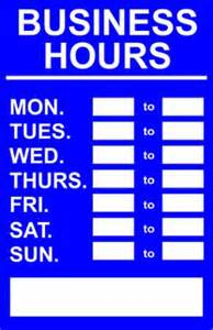 World Opening Hours 1000 Images About Business Hour Signs On