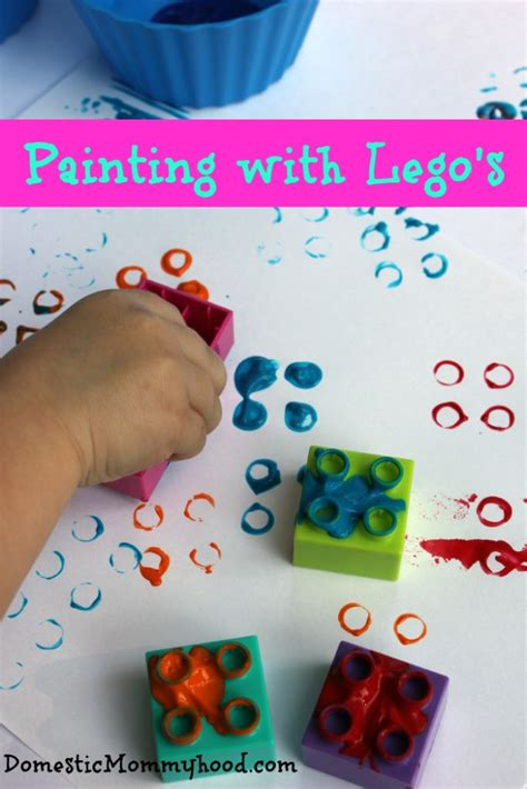 lego painting activity painting with lego s domestic mommyhood