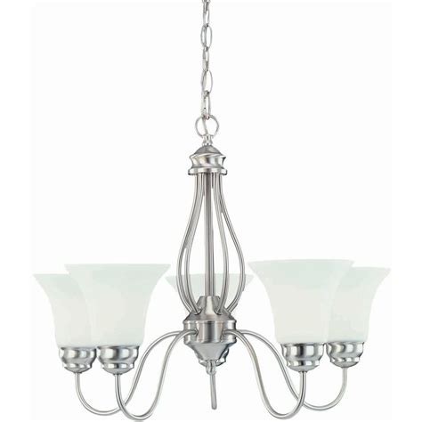 commercial electric 5 light chandelier hton bay commercial electric efg8195l 2 5 light brushed