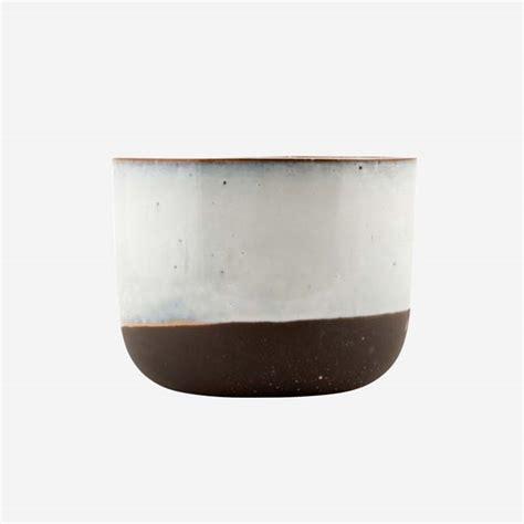 house doctor flower pot bloempot black white