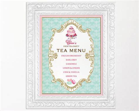 bridal shower tea menu 41 vintage menu designs free premium templates