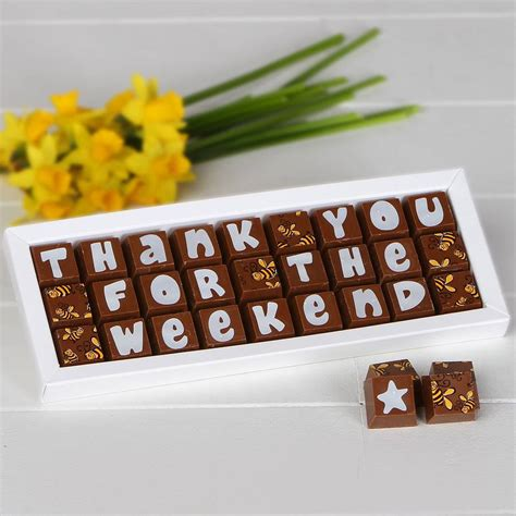 personalised chocolates to say thank you by chocolate by