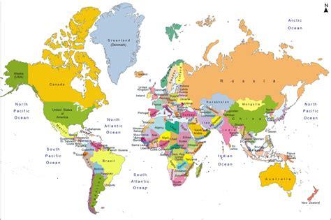 world map political hd image интернет урок по окружающему миру 171 как устроено