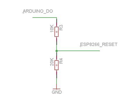esp8266 10k resistor esp8266 wifi module and 5v arduino connection