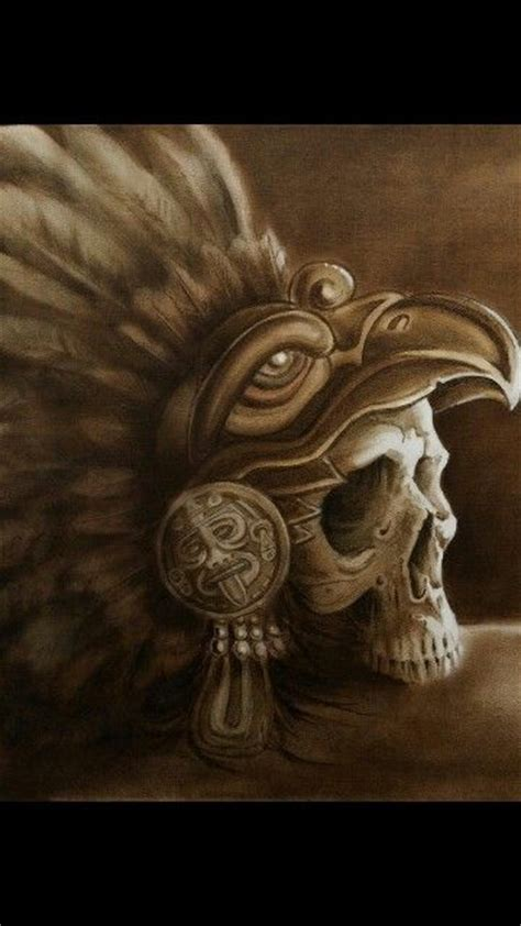 aztec warrior skull tattoo designs aztec eagle warrior skull skulls skeletons