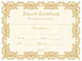 formal award certificate templates blank certificates