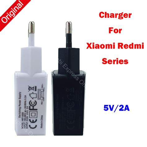 5v 2a original eu charger for xiaomi redmi note 4 3 pro prime 2 mi5 mi max 5 mi4c mi4i mobile