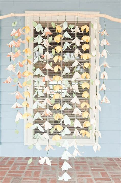 How To Make Hanging Paper Flowers - 25 best ideas about hanging paper flowers on