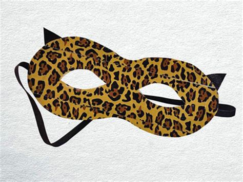 leopard mask template duct crafts leopard mask craftfoxes