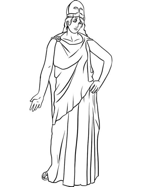 How To Draw Athena Goddess