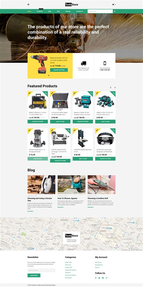 shopify themes download free equipment shopify template