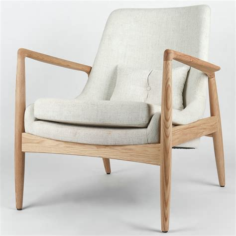 Armchair Nordic Ash Wood Chair Wood Canvas Casual Japanese Restaurant Cafe Club In