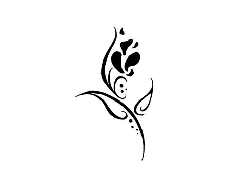 small black and white tattoo designs tribal flower designs cliparts co