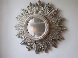 1930s Home Interiors circa 1930s sunburst silver gilded mirror other mirrors