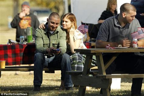 film man up online shia labeouf and kate mara pictured on set of man down