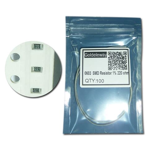 resistor smd 220 aliexpress buy free shipping 0603 chip fixed resistor smd resistor 1 220 ohm from