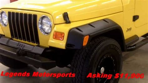2000 Jeep 4 0 Engine For Sale 2000 Jeep Wrangler Tj Yellow Sport 4 0 Liter 5 Speed