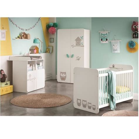 chambre bebe complete discount hiboux chambre b 233 b 233 compl 232 te lit armoire commode