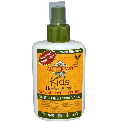 natural mosquito repellent all terrain kids herbal armor natural insect repellent