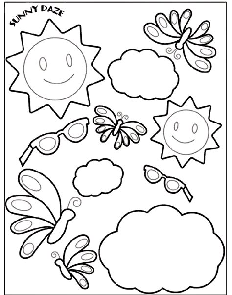 summer coloring pages crayola sunny daze 2 crayola ca