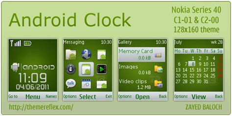 themes clock c1 android clock theme for nokia c1 01 c2 00 themereflex