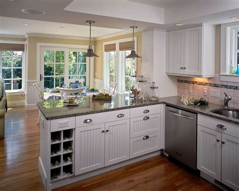 Kitchen Peninsula Ideas Kitchen Peninsula Ideas Kitchen Traditional With Glass Doors Tray Ceiling Window Sill