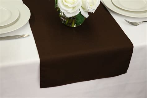 Table Runner Brown chocolate brown table runner polyester wedding table runners
