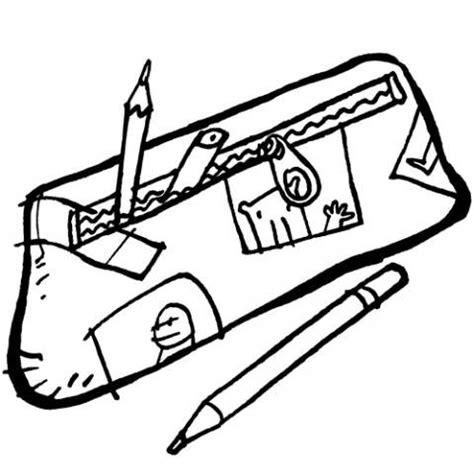 imagenes de utiles escolares en caricatura para colorear dibujo para imprimir y pintar de un estuche con l 225 pices