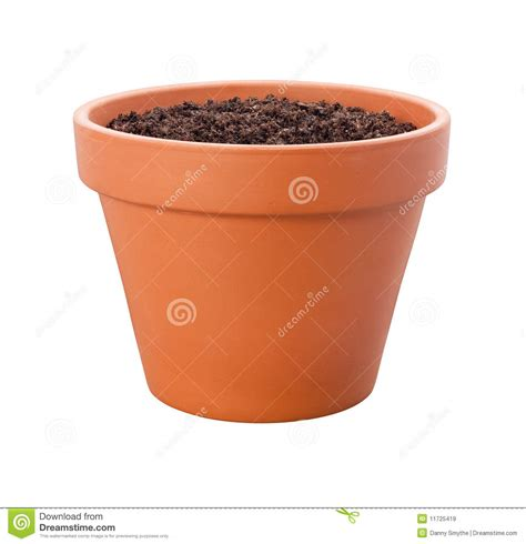 Planter Pots by Flower Pot With Clipping Path Royalty Free Stock Images