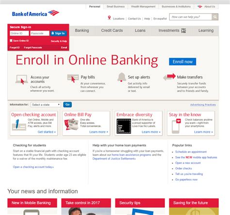bank of america page bank of america quot security alert quot phishing greenview data
