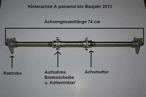 Motorrad Achse Fetten by Hinterachse F 252 R Kinderquad 125cc Speedy Hawk U Panther