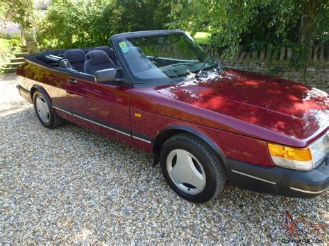 saab convertible red 1992 saab convertible in ruby red and beautiful condition