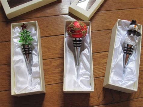 christmas holiday wine bottle stopper new in gift box ebay