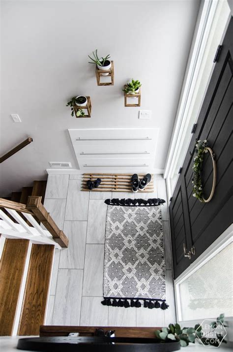 diy shoe storage for entryway diy split level entry makeover i this entry the