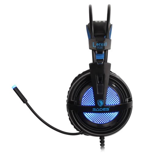 Sades Gaming Headset Sa 904 Locust Plus sades gaming headset locust plus usb 7 1ch με 40mm ακουστικά electroniacs
