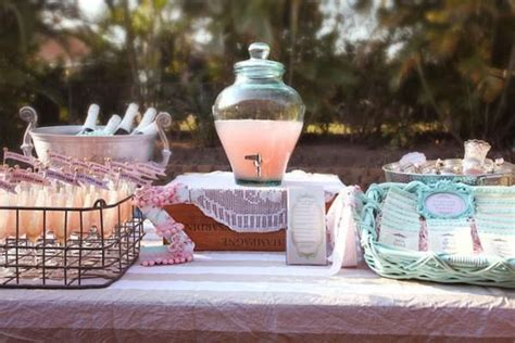shabby chic girl spring floral bridal shower party