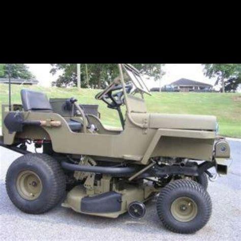 jeep lawn mower wheels