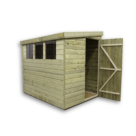 Pent Shed 6 X 3 by 6 X 6 Pressure Treated Tongue And Groove Pent Shed