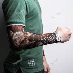 Wolf body art tattoo sleeve sun protect tattoo sleeve assorted