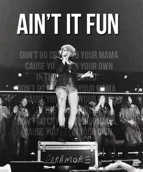 aint it fun paramore ain t it fun is the new single of paramore you should buy