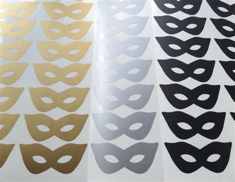 gold wallpaper stickers 20 gold mask stickers vinyl mask decals removable wallpaper